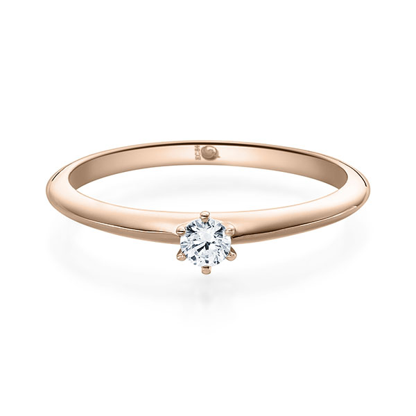 ASK Verlobungsring Rotgold mit Diamant ab 0.08ct